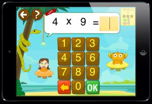 Ejercicios aprender las tablas de multiplicar y dividir. Operaciones serpiente TIKIMATES
