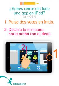 Cómo cerrar una aplicación en iPad