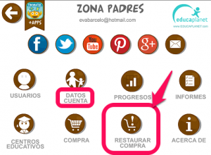 Restaurar compras apps