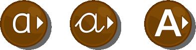 Elige el tipo de letra aprender a leer: mayúsculas, minúsculas o enlazada