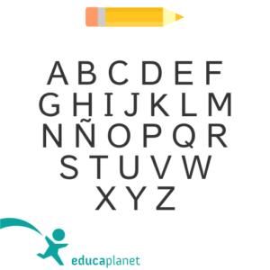 Tipo de letra mayúscula Educaplanet lectura fácil