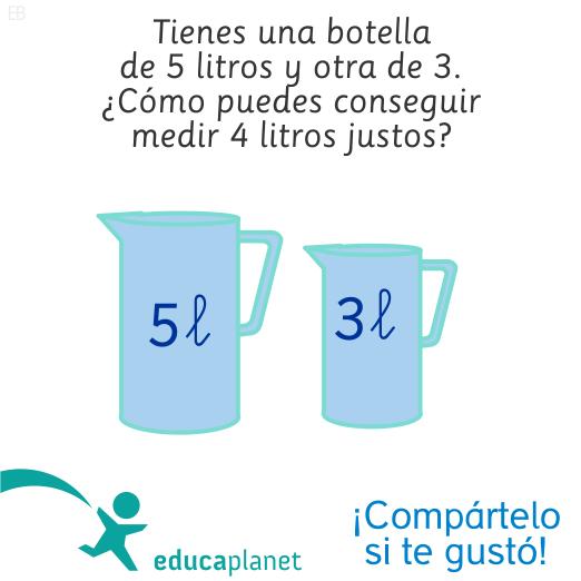 Acertijo Logica Jarras De Agua Educaplanet Apps