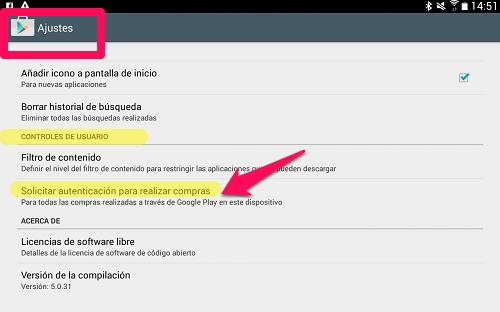 Cómo evitar compras dentro de la aplicación -in-apps contraseña
