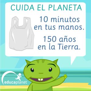 cuida planeta bolsa plástico