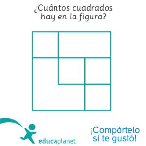 Acertijo cuadrados - lógica sencilla formas