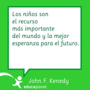 Cita educación JFK la mejor esperanza de futuro