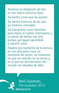 Cita educacación de Neil Gaiman