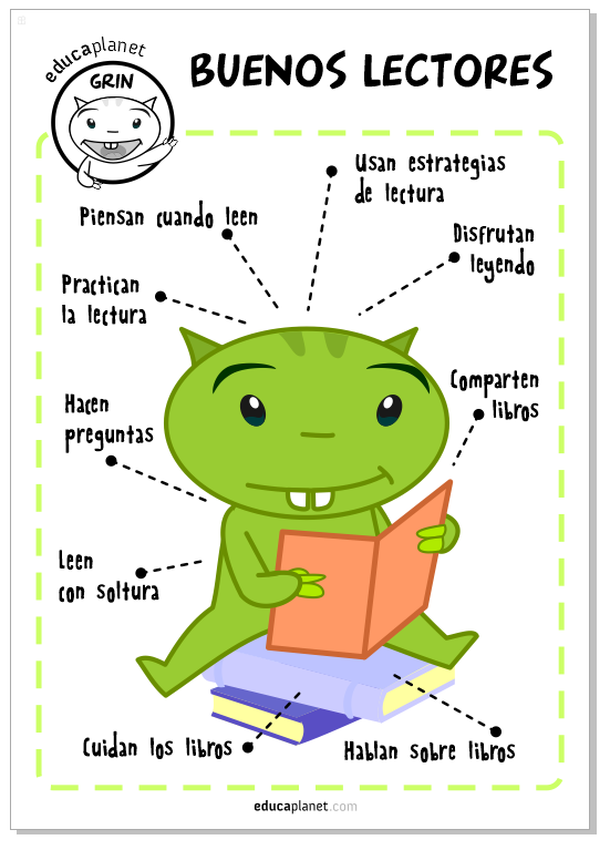 Poster Buenos lectores Grin Leer
