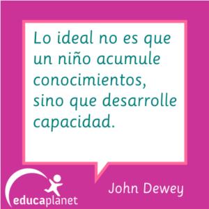 John Dewey niños conocimientos