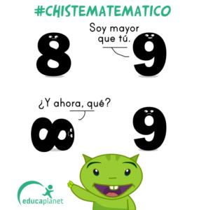 chiste números 8,9 matemáticas