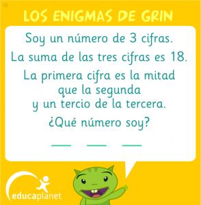Grinenigma número 3 cifras matemáticas