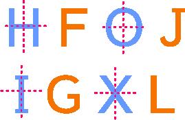 letras solucion ejes de simetría