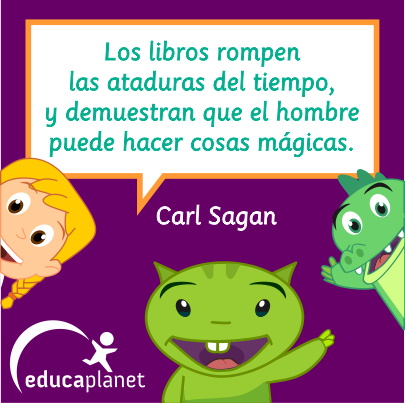 Carl Sagan cita libros lectura Diadellibro