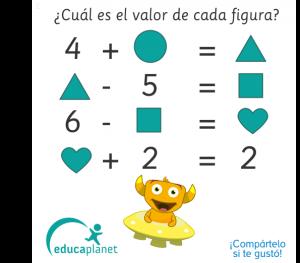 sumas matemáticas figuras