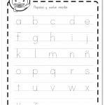 Abecedario letra minúscula de imprenta worksheet