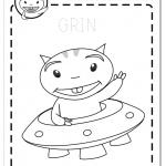 Colorea alien Grin Educaplanet actividades coloring