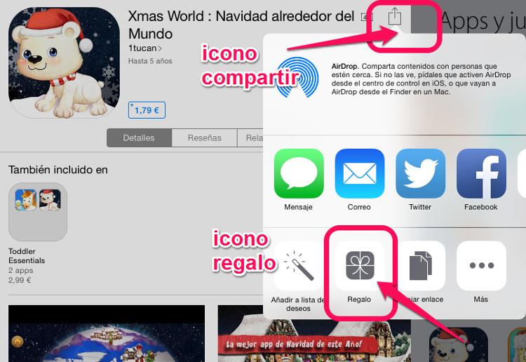Regalar una app