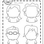 Ficha caras emociones personajes