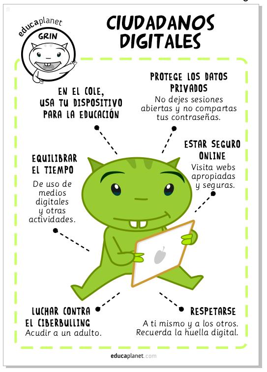 Poster aula: ciudadano digital, Día de Internet Seguro