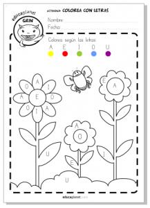 Primavera Actividad Flores Gratis Para Casa O Para El Aula