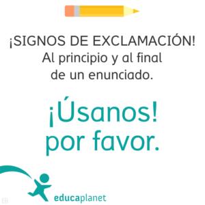 Signos De Exclamación Y Pregunta Educaplanet Apps