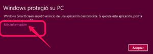 Aviso Smartscreen Instalación ejecutable Educaplanet