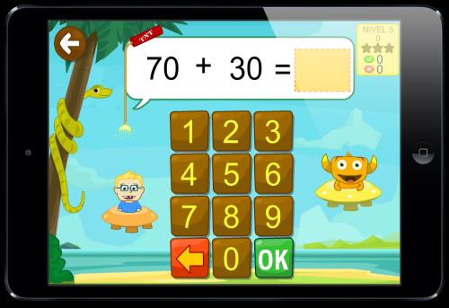 operaciones sumar restar app kely matemáticas
