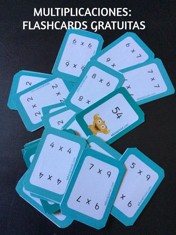 Flashcards multiplicar