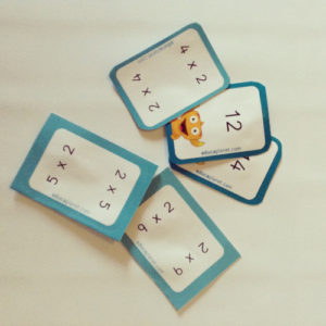 Tablas de multiplicar material aula - flashcards