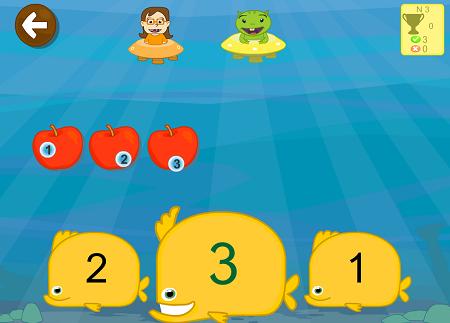 Ejercicios de contar números app niños 4 años