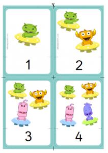 Aprender cartas de números matemáticas manipulativas