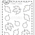 Otoño hojas actividad preescolar