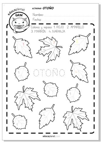 Otoño hojas actividad preescolar otono