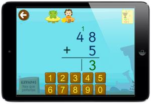 sumas llevando ejercicios interactivos app