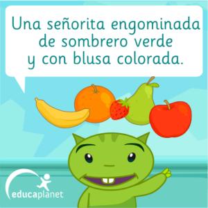 Frutas adivinanza infantil