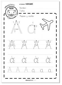 Aprender a leer y escribir - Lectoescritura vocales
