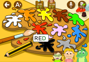 Learn colors English kids  app educaplanet