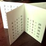Minilibro tablas de multiplicar