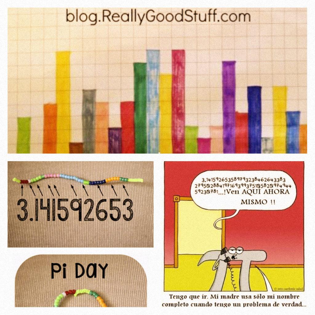 collage actividades número pi
