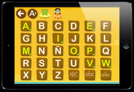 Aprende a escribir el abecedario Alfabeto Juegos