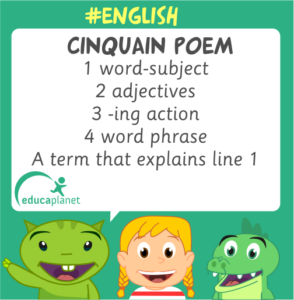 poem cinquain english