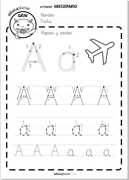 aprender a leer abecedario fichas letras alfabeto lectoescritura ...