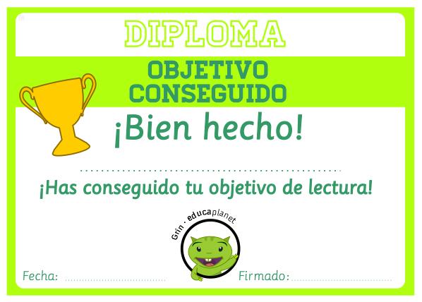 Diploma imprimible Educaplanet