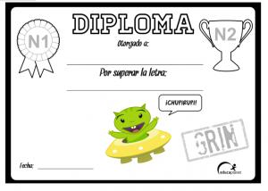 diploma letras aprender leer grin
