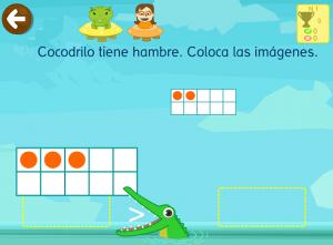 Cocodrilo juego matematicas app comparar
