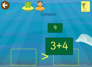 Juego matemáticas comparar numeros