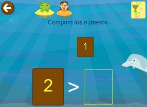 Mayor y menor que - ejercicios niños matemáticas