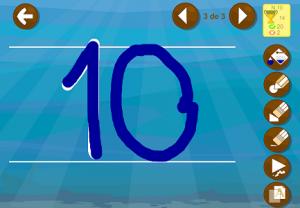 aprender los números app juego escribir