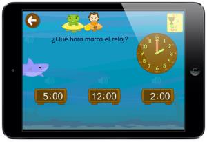 reloj juego horas