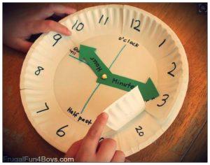 Actividad reloj: horas y minutos